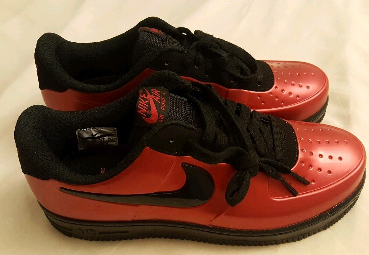Nike Air Force 1 AF1 Pro Cup Cough Drop Foamposite Red Size 8.5 New Old Stock