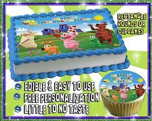 Word World Birthday Cake topper Edible sugar cupcakes ...