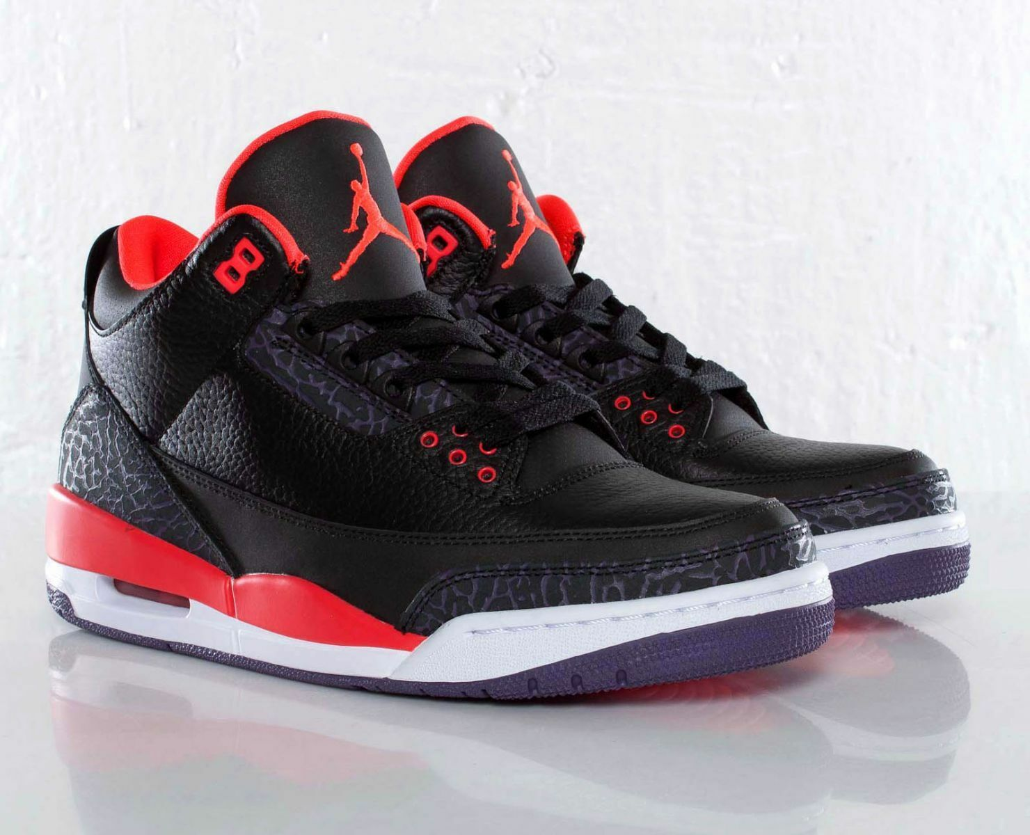 Nike air jordan 3 iii retrò 1 crimson dimensioni 11,5.136064-005 1 retrò 2 3 4 5 6
