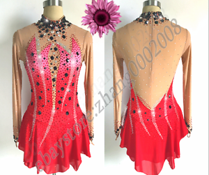 Ice skating dress.Competition figure skating RG dance twirling lyrical dress