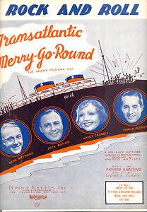 """Musikinstrumente Rational Transatlantic Karussell """" Rock And Roll """" Jack Benny Gene Raymond Seien Sie Freundlich Im Gebrauch"""