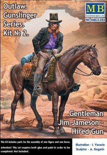 1:35 Master Box 35204 Outlaw Gunslinger 2 Gentleman Jim Jameson