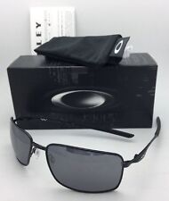 New OAKLEY Sunglasses SQUARE WIRE OO4075-01 Polished Black Frame w/Black Iridium