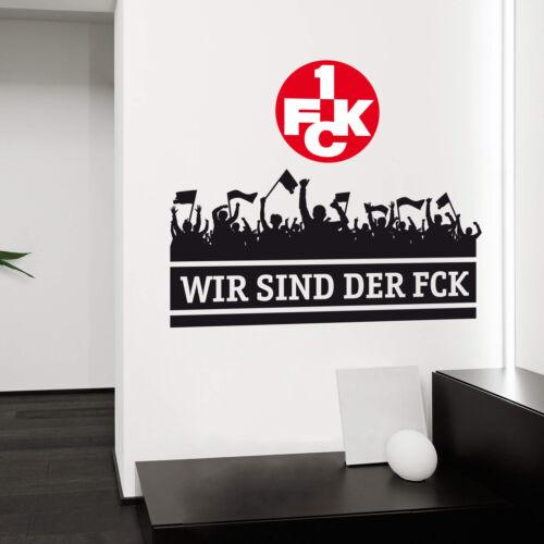 Wandtattoo Wir sind der FCK mit Logo farbig Fanartikel Fanshop Fussball Sport