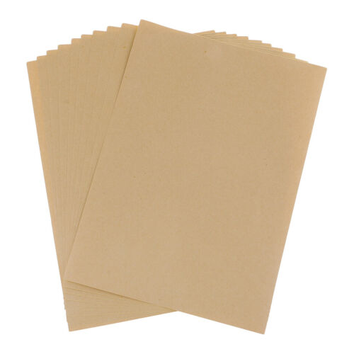 10pcs Brown Paper A4 Blank Stickers For Gift Packing Wrapping Decorating DIY