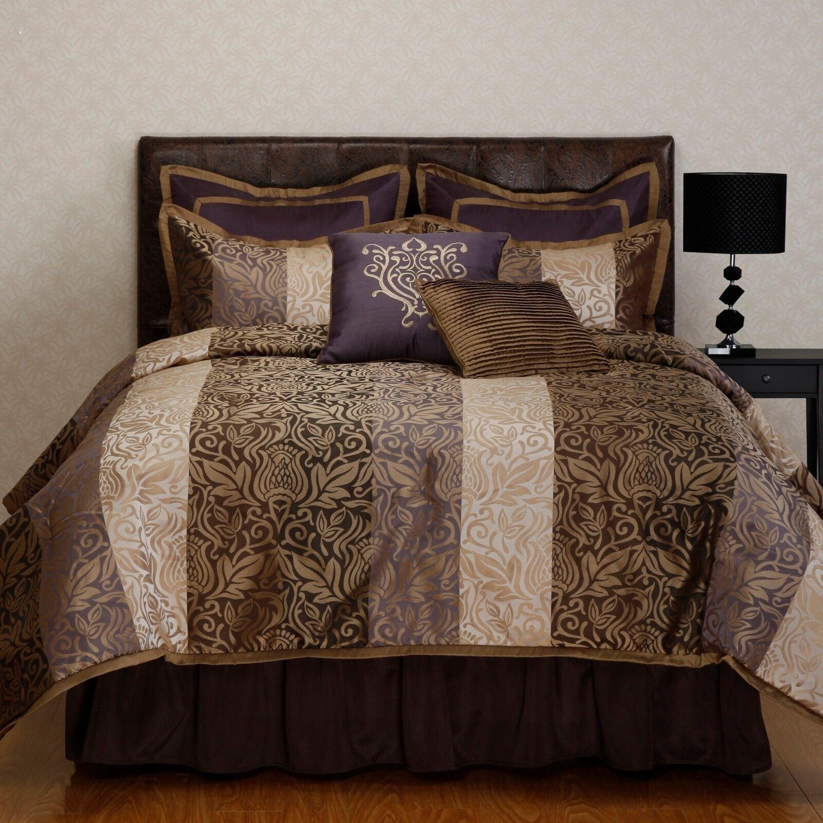 Laurence Tan Jacquard 8-piece Oversize Comforter Set