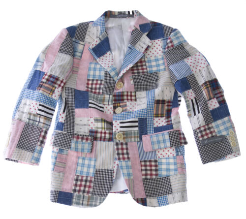 HICKEY FREEMAN Boy/'s Patchwork Cotton Blazer Y81502010 $350 NEW