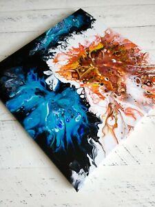 ACRYLIC-PAINTING-ORIGINAL-ARTWORK-14-034-x-14-034-CANVAS-ABSTRACT-ART-HOME-WALL-DECOR