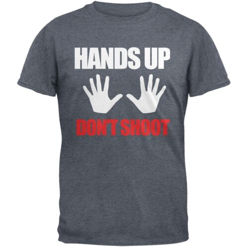 Hands Up Don/'t Shoot Heather Grey Adult T-Shirt