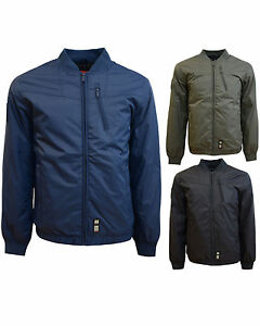 New-Mens-Crosshatch-Coat-Padded-Bomber-Jacket-Hooded-Baseball-Style-Windbreaker