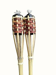 SET-OF-12-Bamboo-Tiki-Torches-Bamboo-Covers-48-034-Includes-Oil-Canisters-Brown