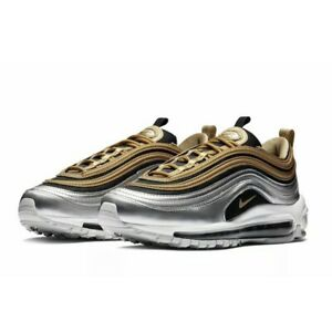 Details about Nike Air Max 97 SE Gold Metallic Silver AQ4137 700 MULTI SIZES