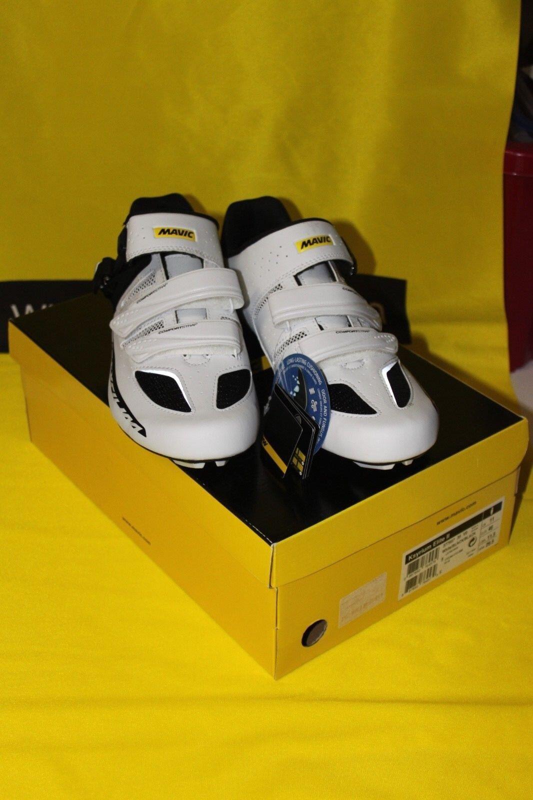 MAVIC Rennradschuhe Ksyrium Elite II schwarz, weiß, weiß, weiß, Größe UK 7, EUR 40 2 3 4d365c