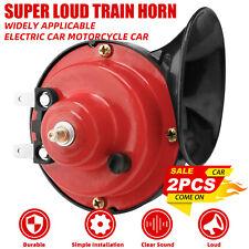 2pcs 12v Super Loud Train Horn For Trucks Suv Car Boat Motorcycle Electric Horn