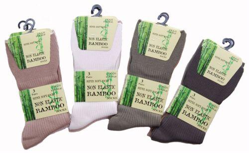6 Pairs Gents Bamboo Non Elastic Loose Top Anti Bacterial Super Soft SE044 Socks