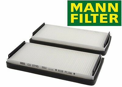 NEW Mercedes W215 W220 W210 Pair Set of 2 Cabin Air Filter OEM Mann-Filter