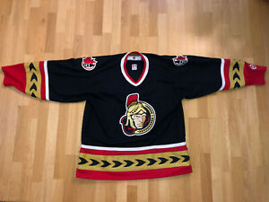 Vintage-Ottawa-Senators-XL-XLARGE-Black-Koho-Alternate-Hockey-Jersey-NHL-X510
