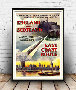 Great-Northern-England-amp-Scotland-Vintage-Railway-poster-reproduction
