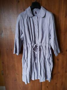 RRP-199-POETRY-Mac-Trench-Parka-Coat-Jacket-Light-Grey-Linen-UK-12-14-16-18-20