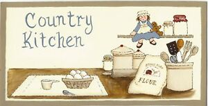 Country Kitchen Vintage Cooking Items Primitive Wall Art Home Decor