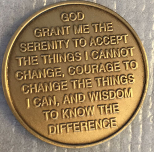 Out Of The Ashes Of Addiction Renewal /& Growth Bronze Medallion Serenity Prayer