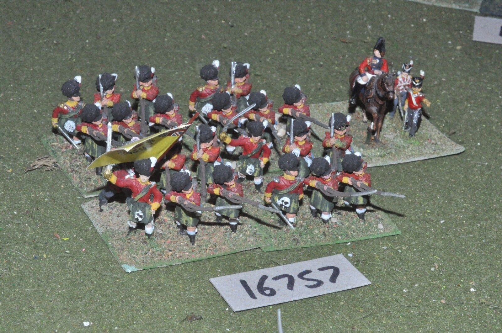 25mm napoleonic   british - highland infantry 24 figs - inf (16757)