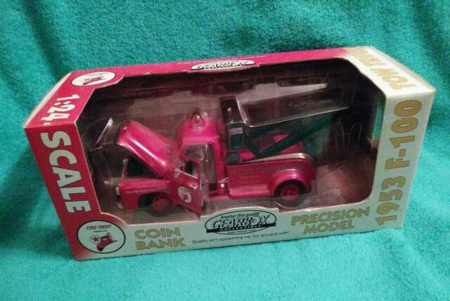 Gearbox 1953 Ford F-100 Tow Truck Coin Bank in Box Precision Model 1:24 Die Cast