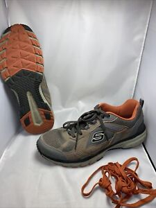 Homme-Skechers-tout-terrain-Taille-12-mousse-a-memoire-de-forme-Gel-Infusee-Baskets-chaussures-tres
