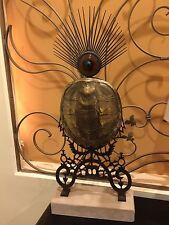 Retired Tony Duquette Reproduct Bronze Glass Terrapin Lamp $11k Baker Furniture