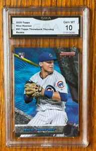 2020 Topps Throwback Thursday Nico Hoerner #41 GMA 10 CHICAGO CUBS