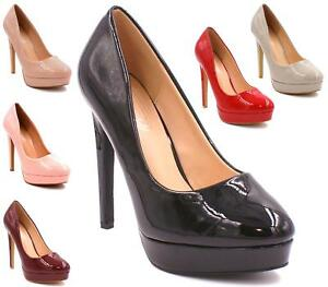 LADIES-WOMENS-PLATFORM-ROUND-TOE-PARTY-STILETTO-HIGH-HEEL-COURT-SHOES-PUMPS-SIZE
