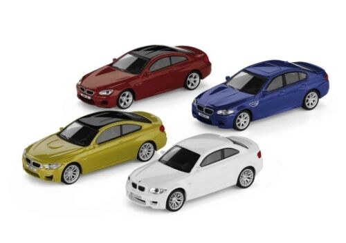 Original bmw m car Collection 4er set en miniatura 1:64 m modelos 80452365554