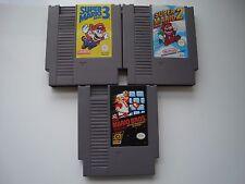 Lot Super Mario Bros + Super Mario Bros 2 + Super Mario Bros 3 sur Nintendo NES