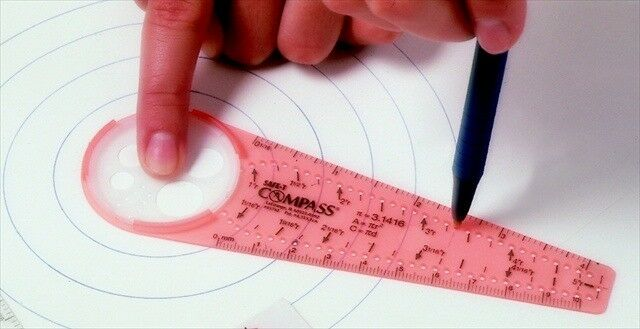 SAFE-T Calibrated Rule Compass With Inch & Metric Rulers 0.06 in. 0.25-10 in.