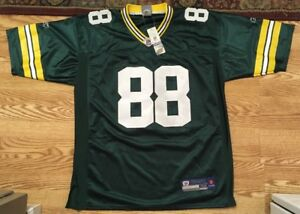 new concept 28de9 6c1c2 Details about Green Bay Packers Finley 88 NFL Reebok Authentic Green On  Field Jersey Sz 52