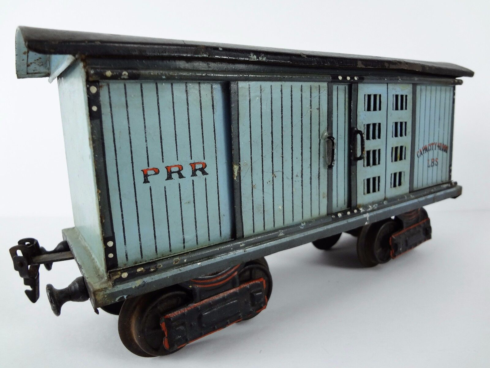 (P.R.R.   Pennsy) MARKLIN PRE-WAR Trains – 1 GAUGE Vintage TIN Train BOX Car Toy