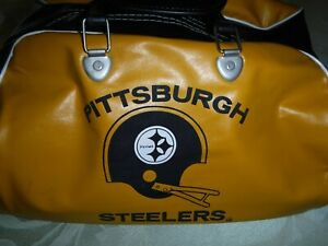 VINTAGE-1970-039-S-PITTSBURGH-STEELERS-GYM-BAG-VERY-CLEAN-VINTAGE-STEELERS-PIECE