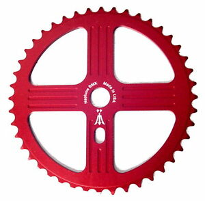NEPTUNE BMX 41 tooth HELM Sprocket RED Gear for 19mm spindles Made in USA!