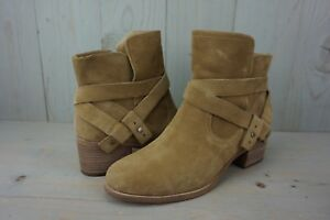 806b3958985 Details about UGG ELORA CHESTNUT LEATHER CLASSIC ANKLE BOOTS WOMENS US 12  NIB