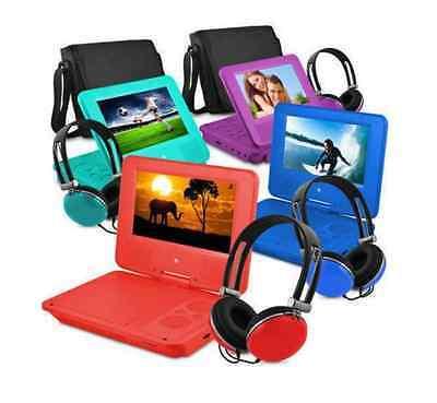"9"" Portable DVD Player Kids Travel Car Entertainment w Headphones Bundle Set New"
