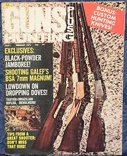 Vintage Magazine GUNS and HUNTING February 1972 !! Galef BSA 7mm Magnum RIFLE !!