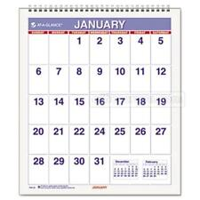 At A Glance Pm528 Mini Monthly Wall Calendar 65 In X 75 In White 2014