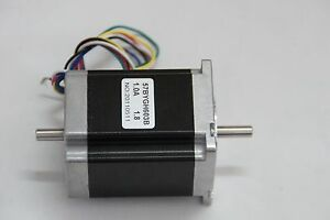 Hot sale nema 23 for 287 oz in 6 leads dual shaft stepper for Double shaft stepper motor