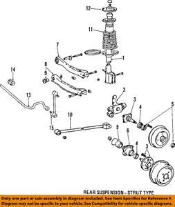 toyota oem 91 97 corolla rear suspension strut mount 4807212140 ebay rh ebay com 99 corolla suspension diagram 2003 corolla suspension diagram
