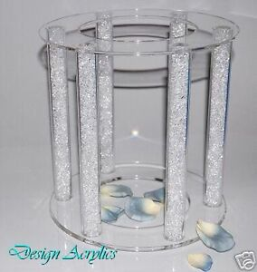wedding cake pillars and plates large clear acrylic cage wedding cake stand 6 pillars ebay 23460