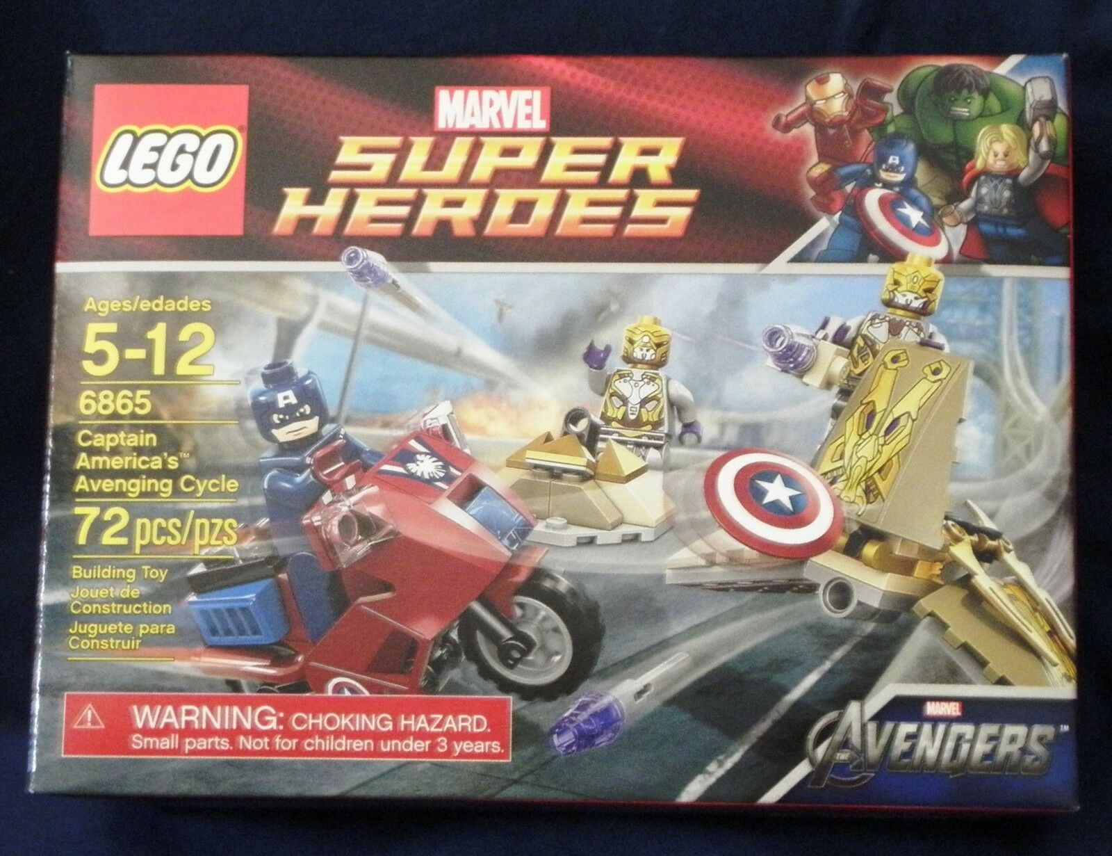 Lego Marvel Super Heroes Captain America's Avenging Cycle  6865 new in box