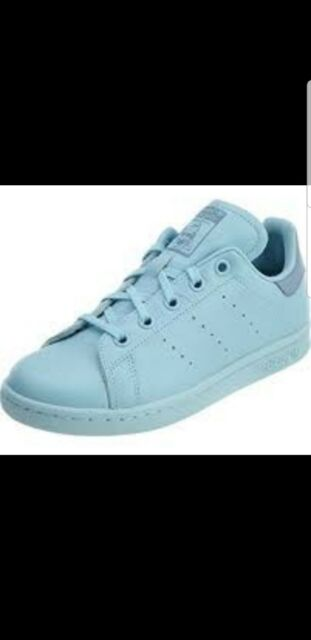 huge discount 26189 921d3 adidas Stan Smith Little Kids By9991 Ice Tactile Blue Shoes Youth Size 12