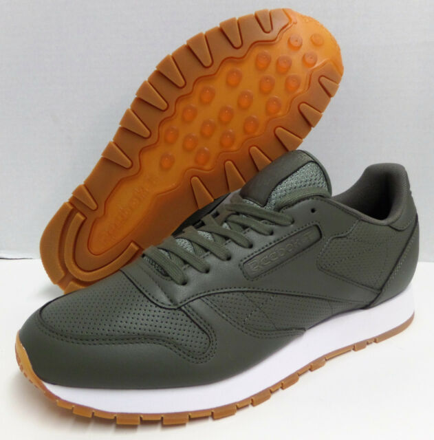 0ac68db15ae Frequently bought together. REEBOK CLASSIC LEATHER PG Olive Green White  TRAINER SHOE US ...