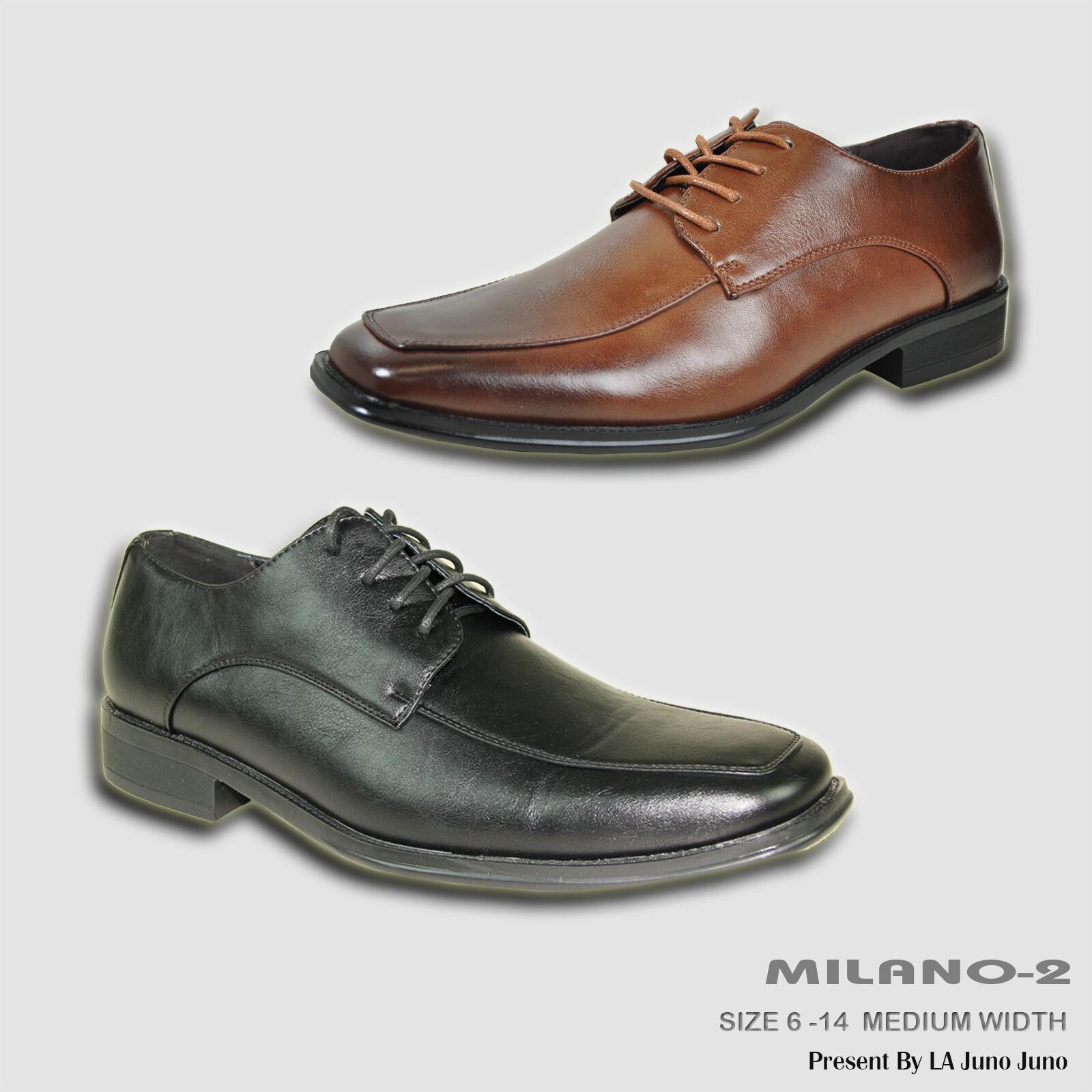 BRAVO New Men Dress Square Shoe MILANO-2 Classic Oxford Square Dress Moc Toe Leather Lining 0d168c
