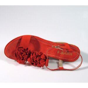Keys-sandalo-zeppa-tacco-medio-camoscio-mattone-scarpe-donna-36-37-38-39-40